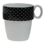 MUG APILABLE PORCELANA MINI TOPOS NEGRO
