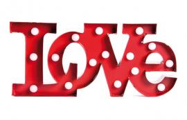 FIGURA METAL CON LEDS LOVE