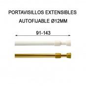 PORTAVISILLO AUTOFIXABLE 91-143CM BLANC 12mm