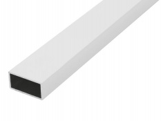 ALUM.TUB RECTAGULAR 100CM. 30X15 BLANC