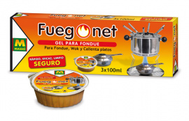 GEL PARA FONDUE FUEGO NET - 3X100 ML