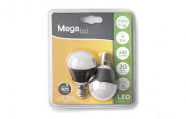 LAMPARA LED ESF. MINI (2UNI) 4,5W E-14 30