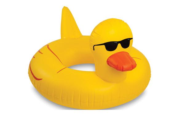 Flotador pato con gafas